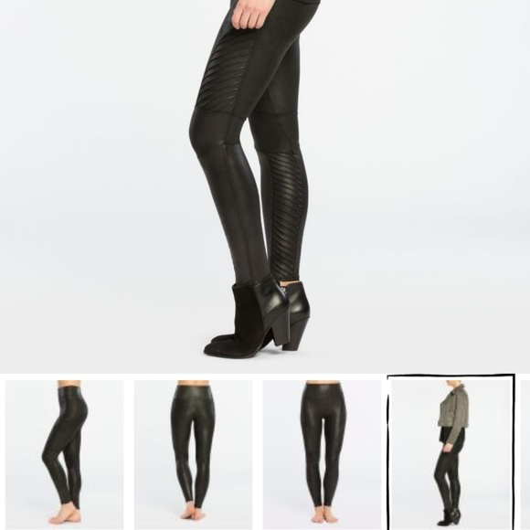 0857b7c477e17 SPANX Pants | Faux Leather Moto Leggings Shape Wear | Poshmark